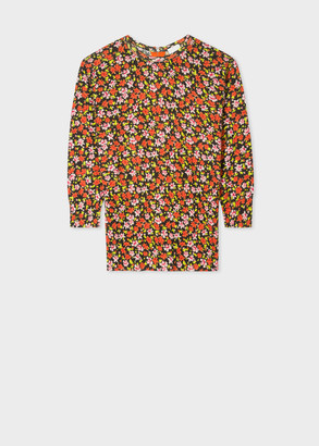 Paul Smith Women's 'Rizo Floral' Print Wool Sweater