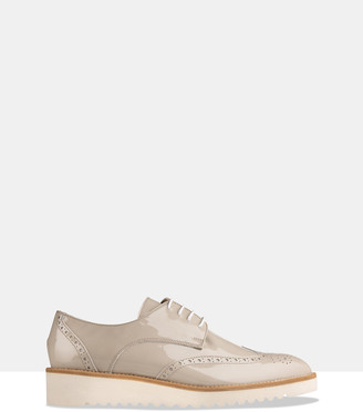 Habbot. Women's Grey Brogues & Loafers - Ormond Platform Lace-Ups - Size One Size, 40 at The Iconic