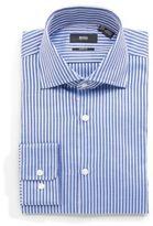 HUGO BOSS Herringbone Striped Button-Up Shirt