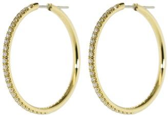 Spinelli Kilcollin Argo Max Pave Diamond Hoop Earrings
