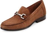 Donald J Pliner Niles 2 Suede Horsebit Loafer, Brown