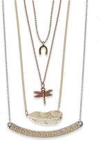 American Rag Necklace Set, Multi-Tone Charm Pendant Necklaces