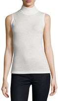 Majestic Paris for Neiman Marcus Sleeveless Cashmere Turtleneck