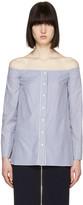 ATEA OCEANIE Blue Scarlett Off-the-Shoulder Shirt