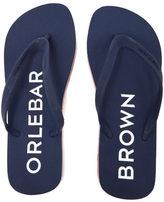 Orlebar Brown Men's Efren Flip Flops Navy/Rescue Red/White