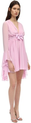 Giamba Georgette High Low Mini Dress