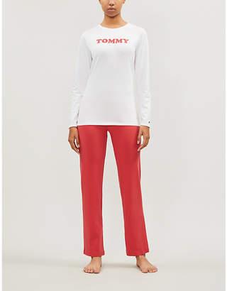 Tommy Hilfiger Tommy-print cotton-blend jersey pyjama set