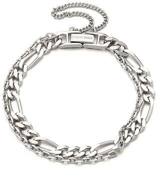 Ille Lan Rascas TVXQ Double Chain Bracelet In White Gold 925 Silver