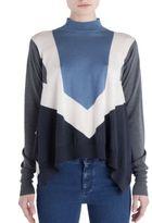 Stella McCartney Graphic Shapes Mockneck Sweater