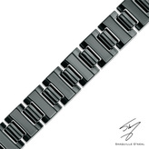 Zales Men's Shaquille O'Neal 15.0mm Link Bracelet in Black Ion-Plated Tungsten - 8.5""
