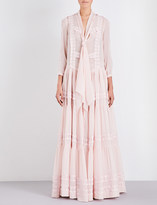 Givenchy Tiered lace silk gown