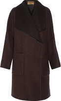 Etro Two-tone cashmere coat