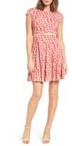 Eliza J Petite Women's Print Fit & Flare Dress