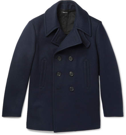 Dunhill Double-Breasted Wool-Felt Peacoat