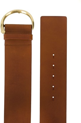 Orciani wide D-ring buckle belt
