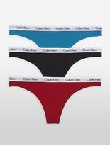Calvin Klein Logo Cotton 3-Pack Thong