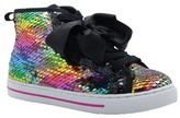 Jo-Jo Jojo Siwa Rainbow Flip Sequin High-Top Sneaker (Little Girls)