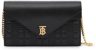 Burberry Hannah TB Quilted Leather Wallet-On-A-Chain