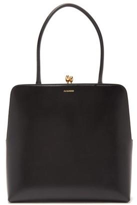 Jil Sander Goji Structured Leather Bag - Womens - Black