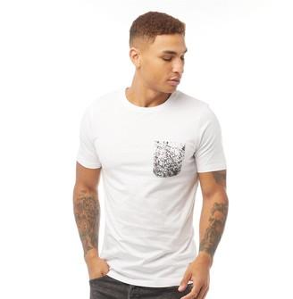 Fluid Mens Splatter Pocket Print T-Shirt White/Black