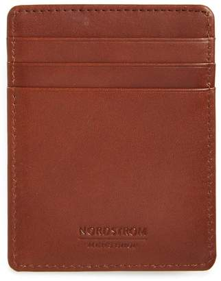Nordstrom Chelsea Leather Money Clip Card Case