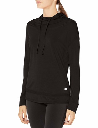 Andrew Marc Women's Long Sleeve Top with Mesh Trims