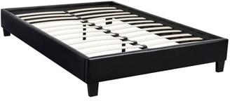 Uspridefurniture US Pride Furniture Black Faux Leather Bed Frame