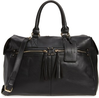 Sole Society Faux Leather Duffle Bag