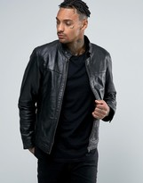 Barney's Originals Barneys Premium Nappa Leather Biker Jacket