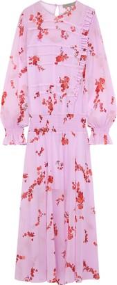 Preen Line Gilda Ruffle-trimmed Floral-print Chiffon Maxi Dress