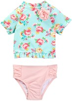 Little Me Multi Floral 2-Piece Rashguard Set (Baby Girls)