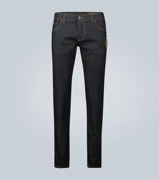 Dolce & Gabbana Skinny straight-leg jeans with logo