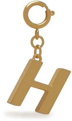 Mulberry Alphabet Brass Keyring - H Gold Zinc