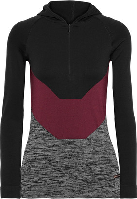 Pepper & Mayne Sylvie Color-block Stretch-jersey Hoodie