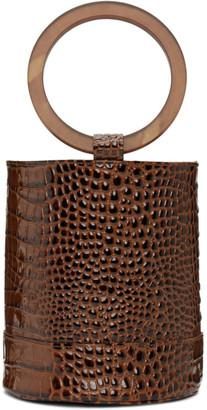 Simon Miller Brown Croc Bonsai 20 Bag