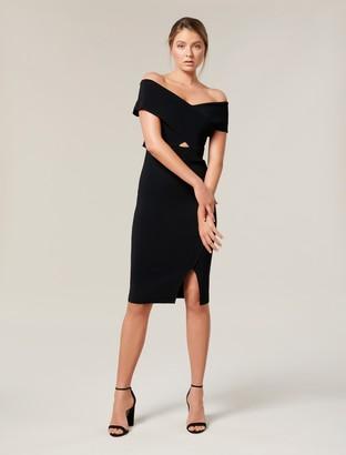 Ever New Luna Cross Front Bardot Knit Dress