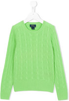 Ralph Lauren cable knit jumper - kids - Cashmere - 7 yrs