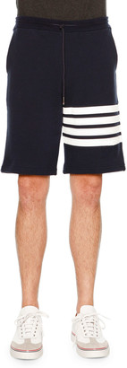 Thom Browne Classic Striped-Leg Sweat Shorts