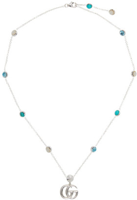 Gucci Silver Pendant Double G Necklace