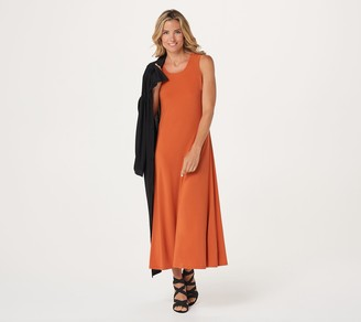 Women With Control Attitudes by Renee Petite Duster & Sleeveless Maxi Dress Set
