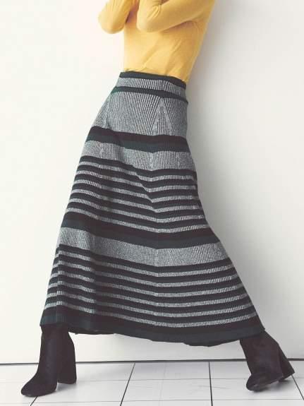 Snidel (スナイデル) - スナイデル プリーツロングニットスカート