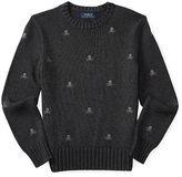Ralph Lauren Embroidered Cotton Sweater