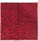 Saint Laurent Poppy square scarf