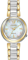 Citizen Eco-Drive Sunrise Womens Two-Tone Bracelet Watch