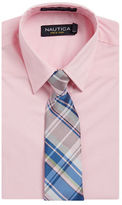 Nautica BOYS 8-20 Dress Shirt and Patterned Tie Set