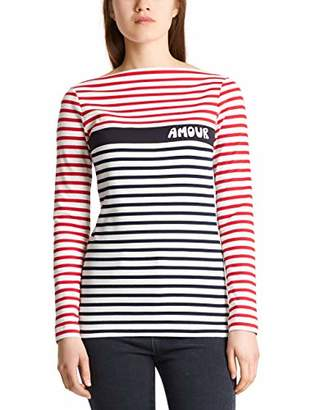 Marc Cain Women's Langarmshirts Long Sleeve Top,8 (Size: 1)