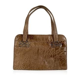 BEIGE Non Signé / Unsigned Non Signe / Unsigned \N Leather Handbags