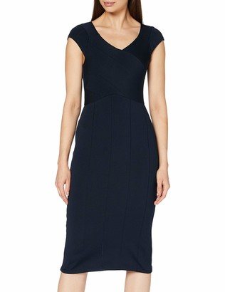 Dorothy Perkins Women's Luxe Navy Bodycon Knitted Dress Casual 18