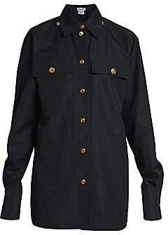Givenchy Women's Logo-Button Cotton Shirt