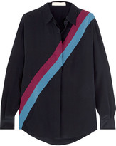 Stella McCartney Striped Silk Crepe De Chine Shirt - Midnight blue